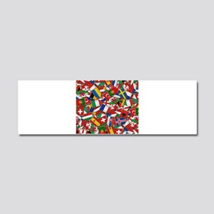 European Soccer Nations Flags Car Magnet 10 x 3