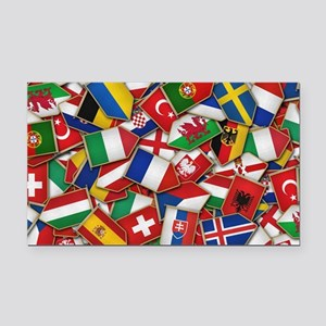 European Soccer Nations Flags Rectangle Car Magnet