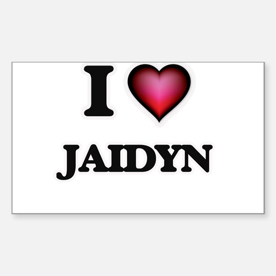 I Love Jaidyn Decal