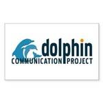 Dolphin Communication Project Sticker (Rectangular