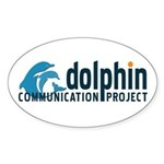 Dolphin Communication Project Oval Sticker