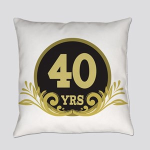 40th Wedding Anniversary Everyday Pillow