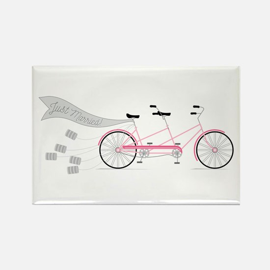 Just Married Bike Magnets