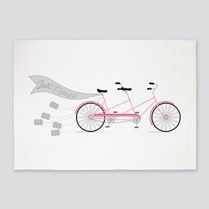 Just Married Bike 5'x7'Area Rug