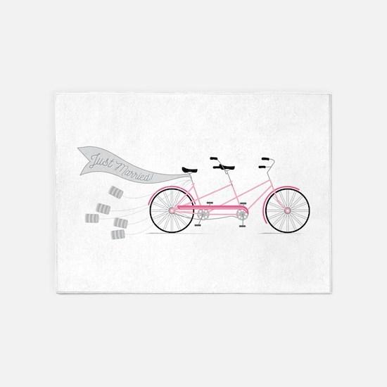 Just Married Bike 5'x7'Area Rug
