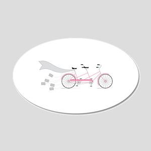 Wedding Tandem Bike Wall Decal
