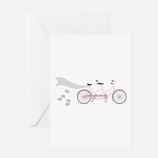 Wedding Tandem Bike Greeting Cards