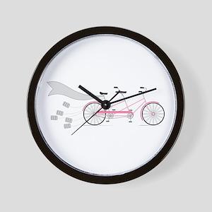 Wedding Tandem Bike Wall Clock
