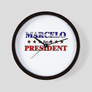 MARCELO for president Wall Clock