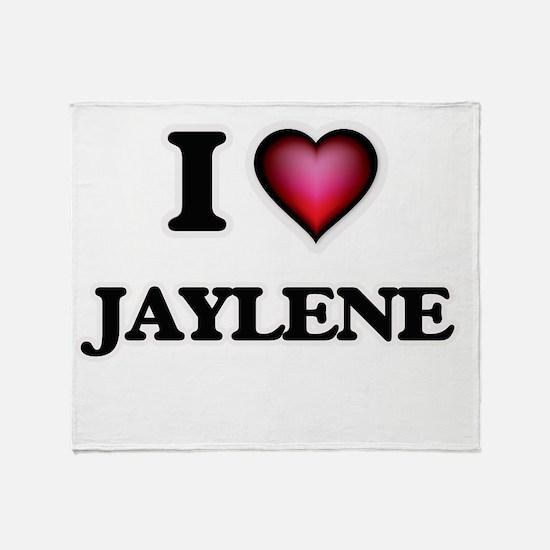 I Love Jaylene Throw Blanket