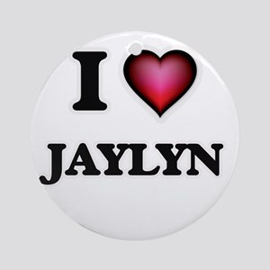 I Love Jaylyn Round Ornament