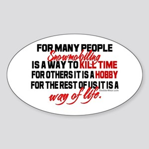 Way of Life Oval Sticker
