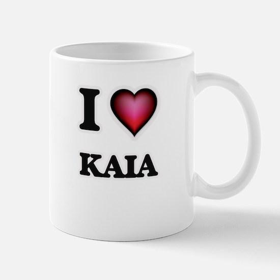 I Love Kaia Mugs