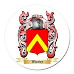 Whitley Round Car Magnet