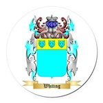 Whiting Round Car Magnet