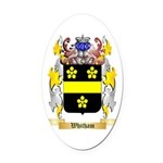 Whitham Oval Car Magnet