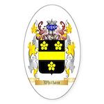 Whitham Sticker (Oval 50 pk)