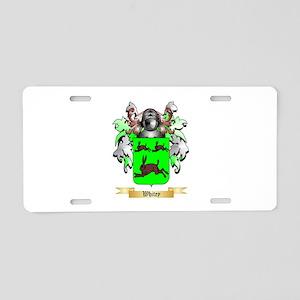 Whitey Aluminum License Plate