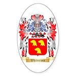 Whitecross Sticker (Oval)