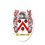 White (Ireland) Oval Car Magnet