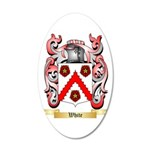 White (Ireland) 20x12 Oval Wall Decal