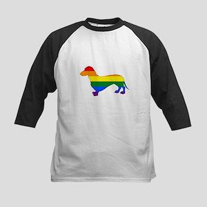 Rainbow Dachshund Baseball Jersey