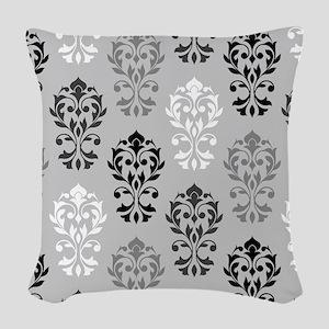 Heart Damask Art I Ptn Bwg Woven Throw Pillow