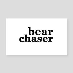 Bear Chaser Rectangle Car Magnet