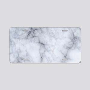 Gray Marble Texture Print Aluminum License Plate