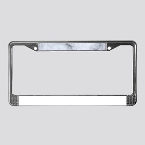 Gray Marble Texture Print License Plate Frame