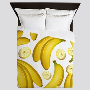 Banana Fruity Pattern Queen Duvet