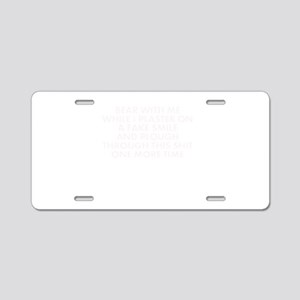 Bill Hicks - Bear With Me Aluminum License Plate
