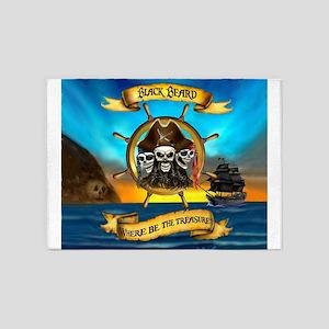 Blackbeard Where be the Treasure 5'x7'Area Rug