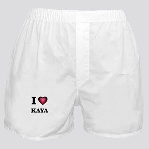 I Love Kaya Boxer Shorts