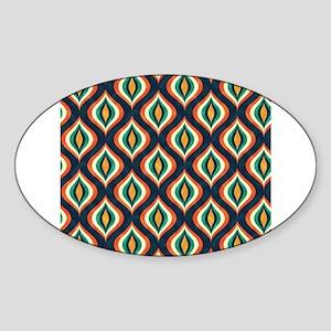 Quatrefoil Colorful Retro Geometric Patter Sticker