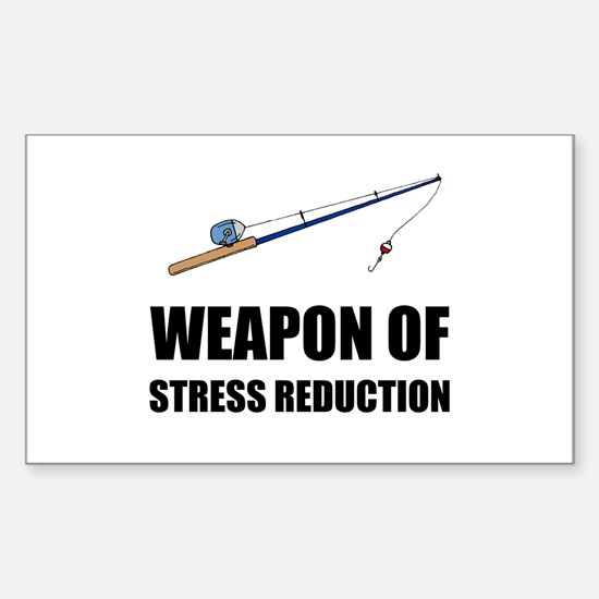 Weapon of Stress Reduction Fishing Decal