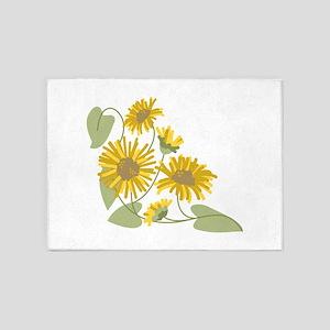 Sunflower Corner 5'x7'Area Rug