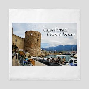 Calvi France Corsica Island Queen Duvet