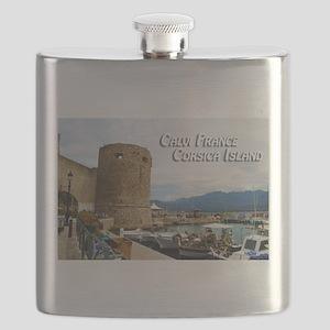 Calvi France Corsica Island Flask