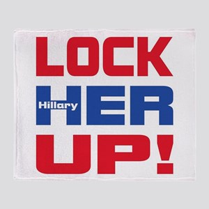 HILLARY LOCK HER UP Throw Blanket