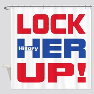 HILLARY LOCK HER UP Shower Curtain