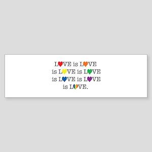 Love is Love Bumper Sticker