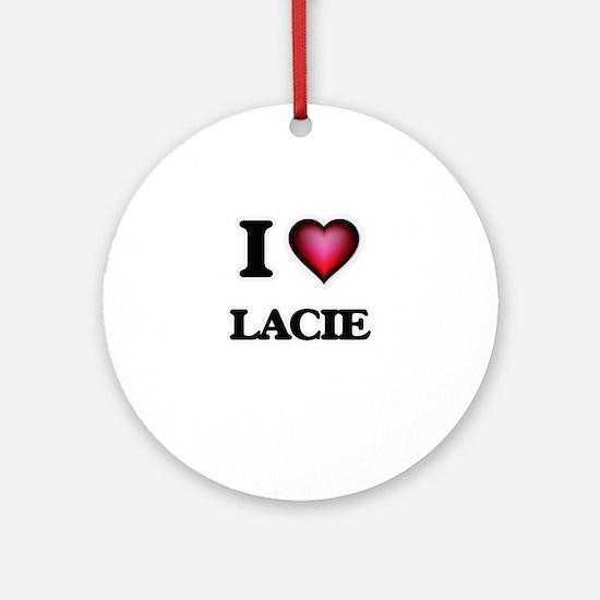 I Love Lacie Round Ornament