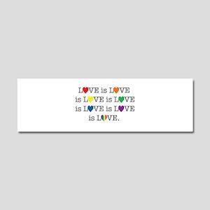 Love is Love Car Magnet 10 x 3