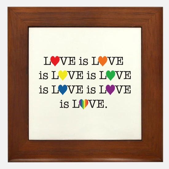 Love is Love Framed Tile