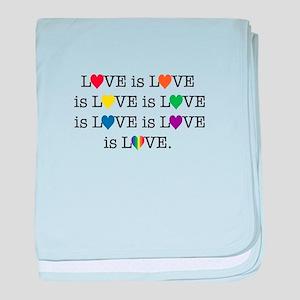 Love is Love baby blanket