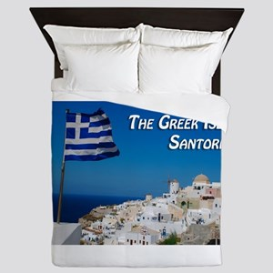 The Greek Isles Santorini Queen Duvet