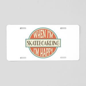 happy skateboarder Aluminum License Plate