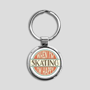 happy skater Round Keychain