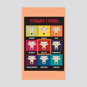 Ice Age Scrat Today I Feel Sticker (Rectangle)